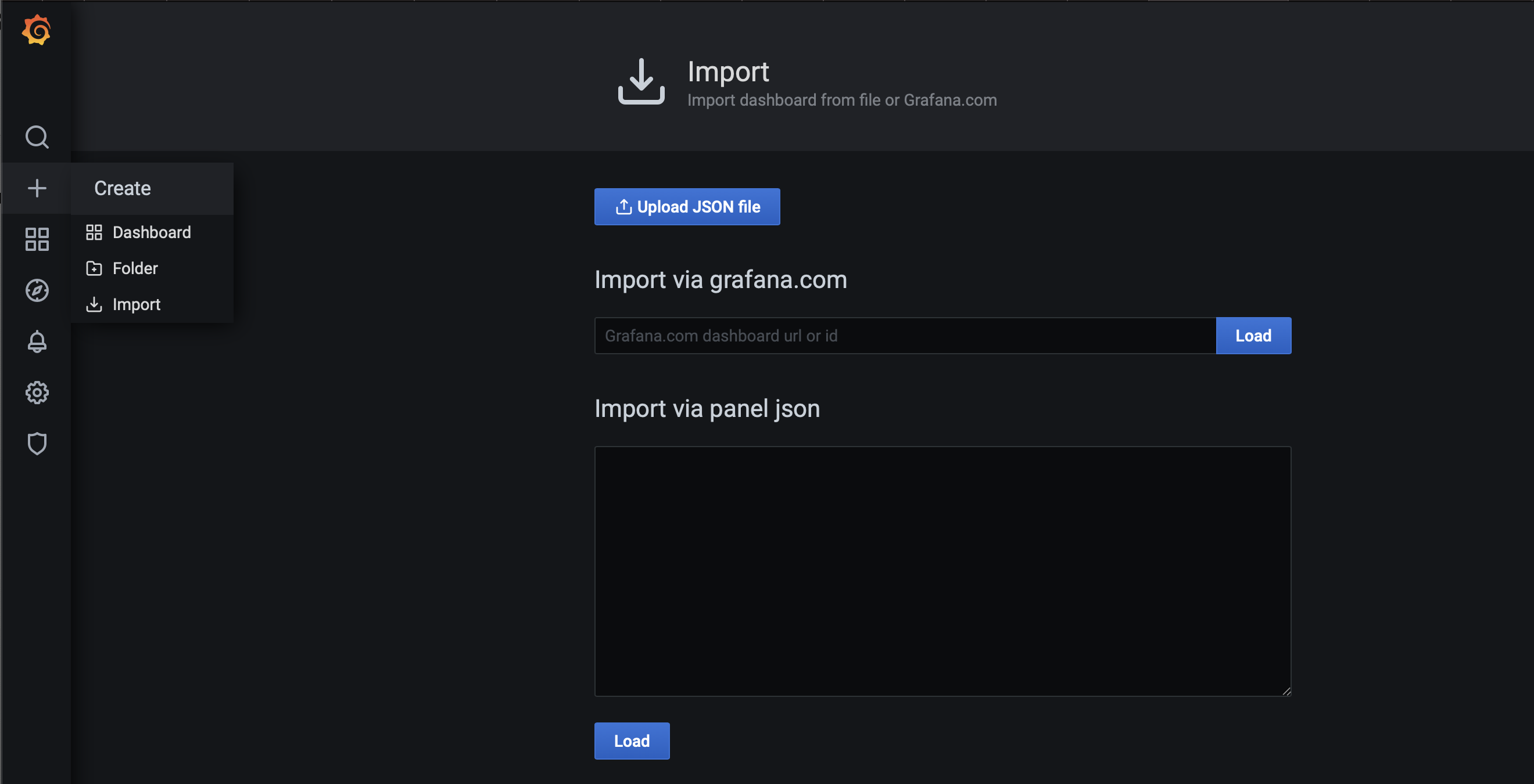 Entering your dashboard ID for Import